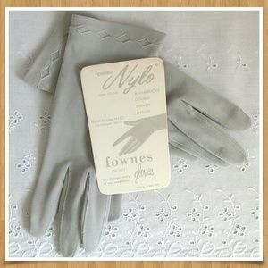 Vintage Nylon Gloves Grey Xsmall